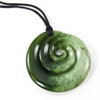 New Zealand All Blacks New Zealand Pounamu Koru Pendant