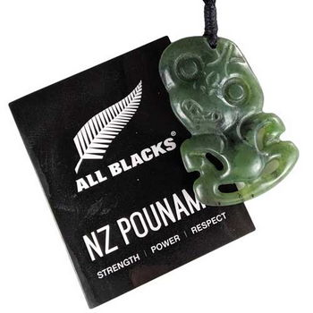 New Zealand All Blacks New Zealand Pounamu Tiki Pendant