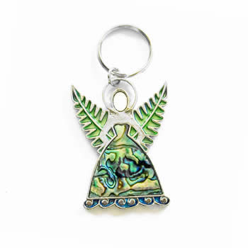 New Zealand Silver Fern South Pacific Fairy Key Ring