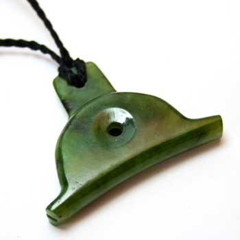 New Zealand New Zealand Greenstone Whistle Pendant by Moreton Jewellery