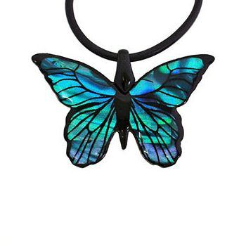 New Zealand New Zealand Paua Shell Butterfly Pendant