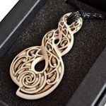 Triple Twist Hand Carved Bone Pendant By Jeff Bryan Master Carver