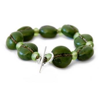 Lashed Greenstone Bracelet