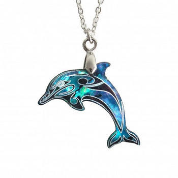 New zealand paua shell dolphin pendant kiwitreasure new zealand paua shell dolphin pendant aloadofball Image collections