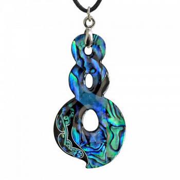 new zealand paua shell twist pendant