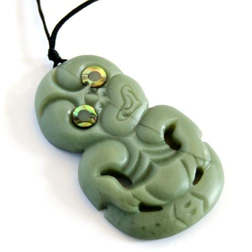 Inanga jade greenstone tiki kiwitreasure greenstone maori tiki pendant mozeypictures Images