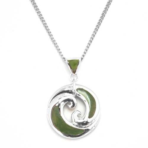new zealand greenstone silver koru pendant by moreton