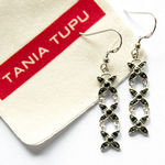 Tania Tupu Tapa Black Onyx Earrings Detail